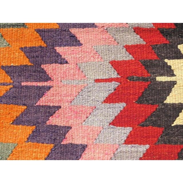 Pink Vintage Turkish Kilim Rug For Sale - Image 8 of 8