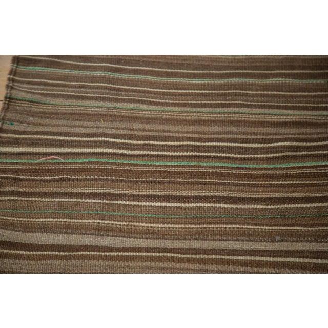 Vintage Moroccan Brown Stripe Kilim Rug - 5' X 7' For Sale - Image 4 of 7