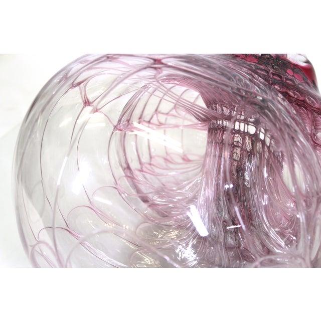 Transparent Jorg Zimmermann German Studio Art Glass Sculpture For Sale - Image 8 of 12