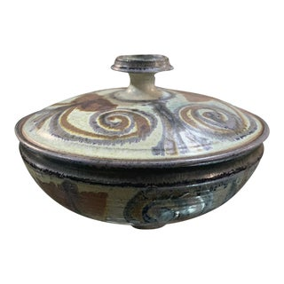 1960s Robert Sperry Life's Pottery Casserole/ Container For Sale
