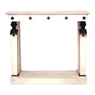 19th Century French Marble and Bronze Console For Sale