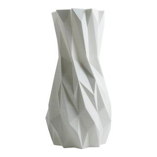 Elemental White 3D Printed Plastic Vase For Sale