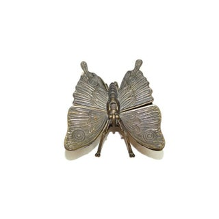 Vintage Art Deco Brass Butterfly Ashtray Preview