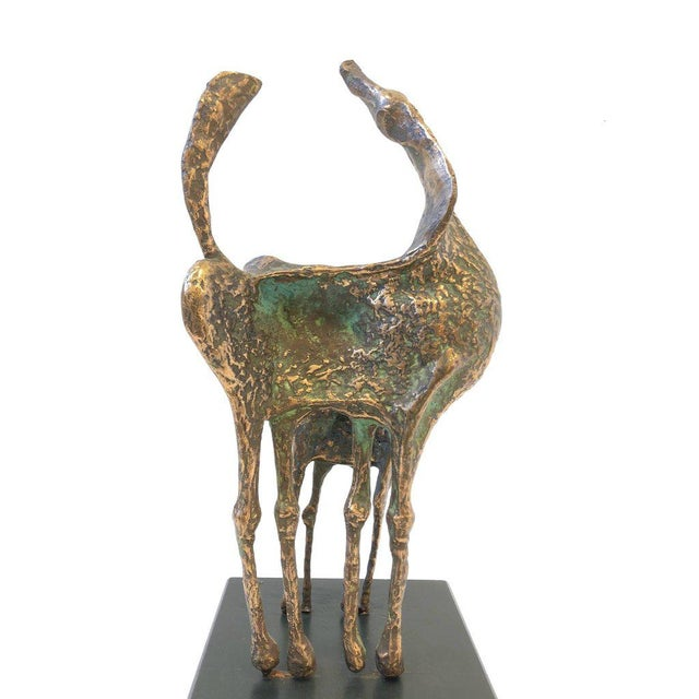 Gold Bronze Horses Sculpture by Curtis Jere For Sale - Image 8 of 10