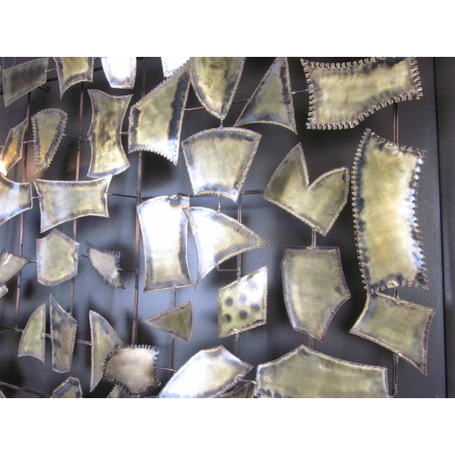 Curtis Jere Attributed Monumental Brass Wall Sculpture For Sale - Image 4 of 7