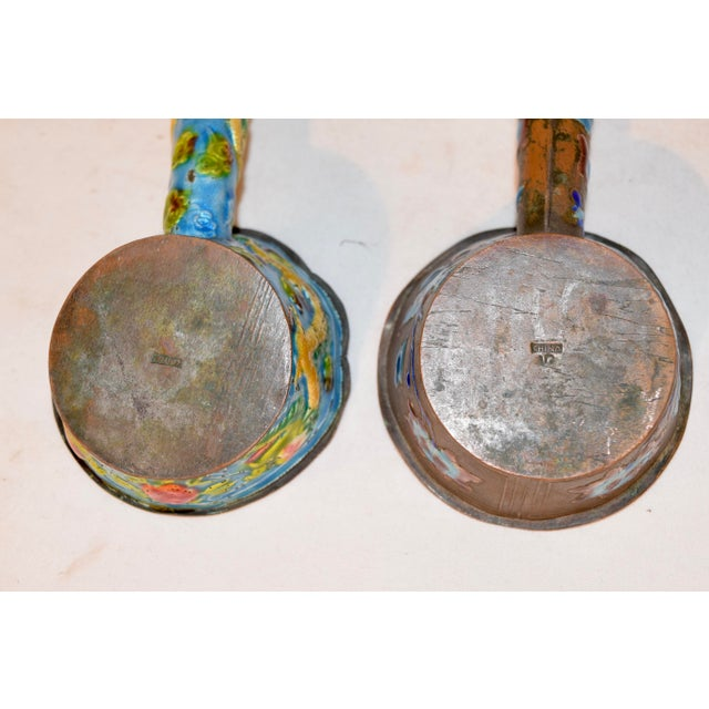 Pair of 19th Century Chinese Enameled Ladles For Sale In Greensboro - Image 6 of 7