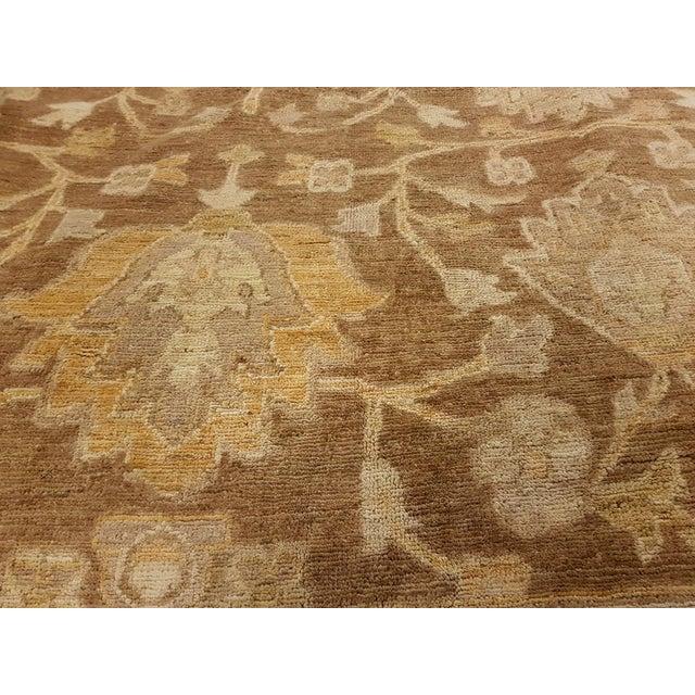 "Peshawar Audry Brown & Tan Wool Rug - 12' x 17'7"" For Sale - Image 4 of 7"