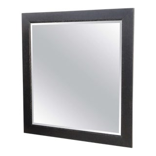 Large Ebonized and Limed Oak Mirror, Jamie Herzlinger For Sale