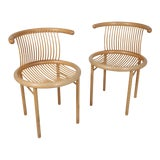 Image of 1960s Vintage Helmut Lübke Dining Chairs - a Pair For Sale