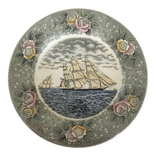 "1940s B. Altman Currier & Ives Plate by Adams ""Clipper Ship"" For Sale"