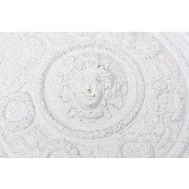 Versace 1990s Modern Versace Style White Plaster Resin Medallion For Sale - Image 4 of 10