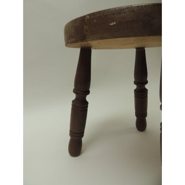 Marvelous Vintage Rustic Wood Milking Decorative Stool Pabps2019 Chair Design Images Pabps2019Com