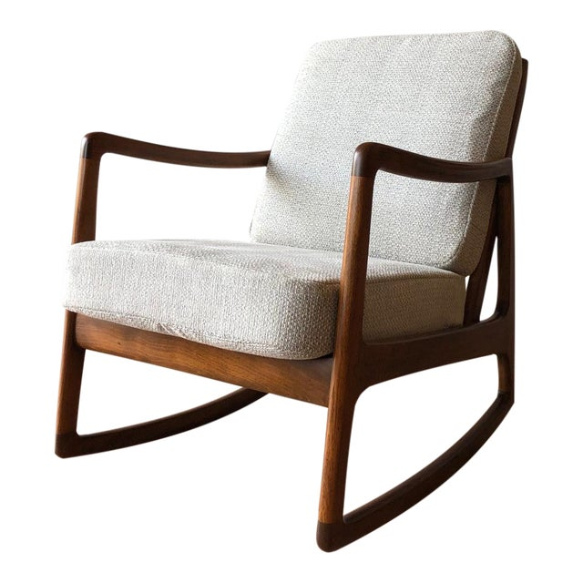 Newly-Upholstered MCM Rocker - Ole Wanscher for France & Daverkosen For Sale