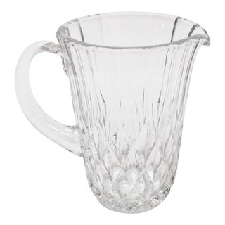 Val St Lambert Crystal Pitcher For Sale
