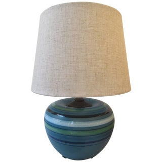 "Bitossi for Rosenthal Netter Ceramic ""Fascie Colorate"" Table Lamp For Sale"