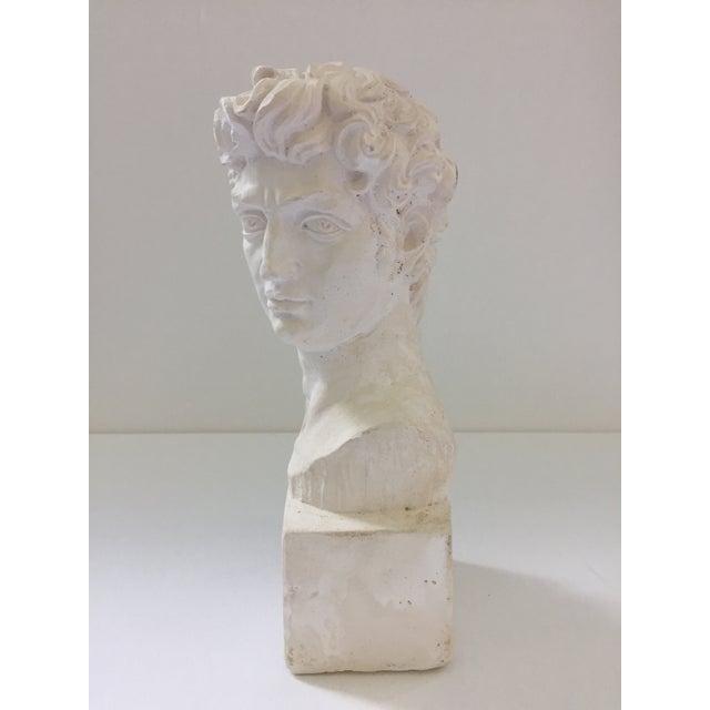 Plaster Bust of David Sculpture - Image 3 of 5