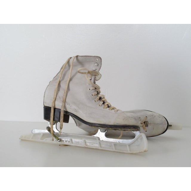 Vintage White Ice Skates - Pair - Image 5 of 5