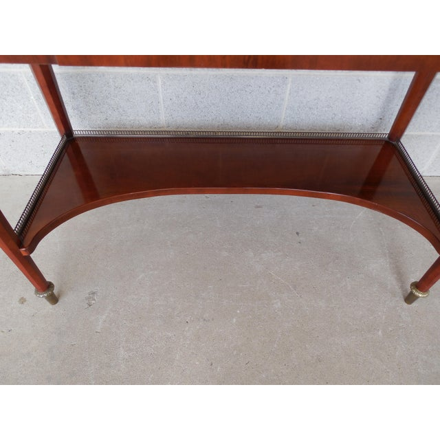 JOHN WIDDICOMB Neo-Classical Bronze Mounted Console Table For Sale - Image 9 of 13