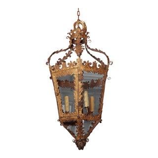 18th Century Italian Gilt Tole Lantern For Sale