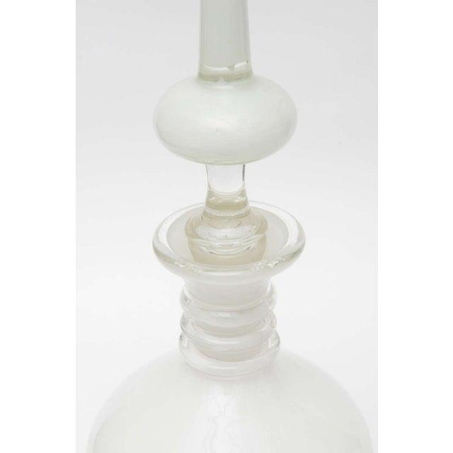 Fine Pair Italian Glass Decanters, Seguso, Murano For Sale - Image 9 of 9