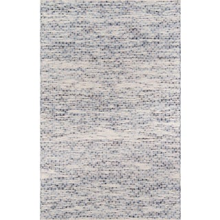 Erin Gates Dartmouth Bartlett Blue Hand Made Wool Area Rug 5' X 8' For Sale