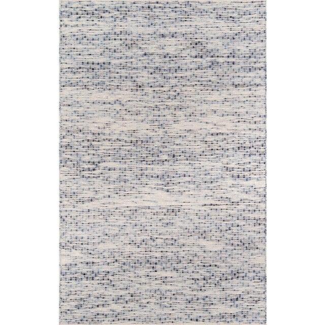 Erin Gates Dartmouth Bartlett Blue Hand Made Wool Area Rug 5' X 8' For Sale