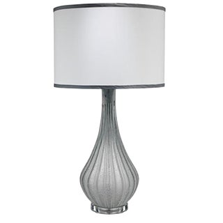 Modern Jaime Young Scavo Frosted Gray Glass Table Lamp For Sale