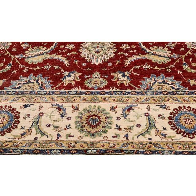 2000 - 2009 Kafkaz Peshawar Rubin Red & Ivory Wool Rug - 9'0 X 11'10 For Sale - Image 5 of 7