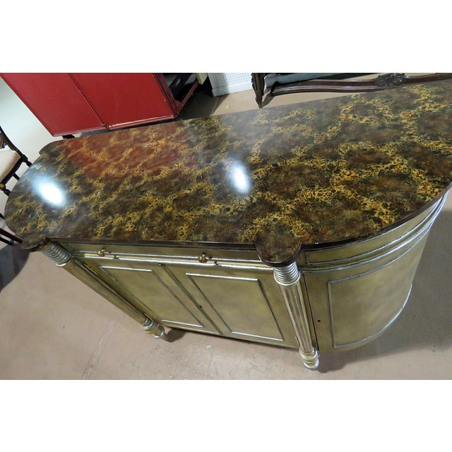Late 20th Century Maitland Smith Faux Marble Top Commode For Sale - Image 5 of 13