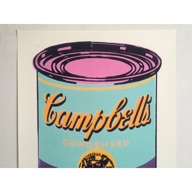 "This Andy Warhol Foundation offset lithograph print Pop Art poster "" Campbell's Soup Can ( Purple & Green ) "" 1965, is a..."