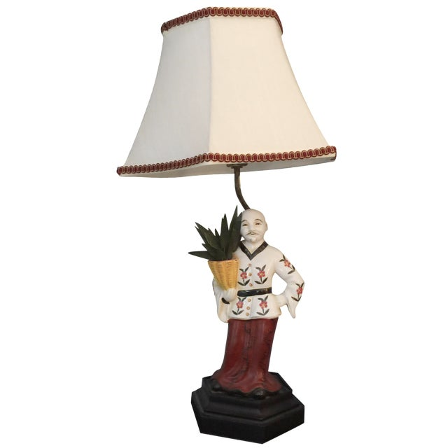 Chinoiserie Porcelain Figure Lamp - Image 1 of 4