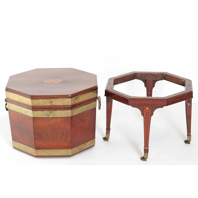 George III Mahogany and Brass Cellarette For Sale - Image 11 of 13