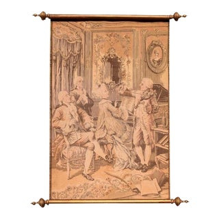 Scroll French Rococo Revival Tapestry Textile