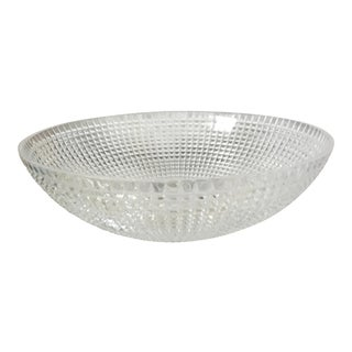 Italian Cristal Transparent Diamond Cut Sink Bowl For Sale