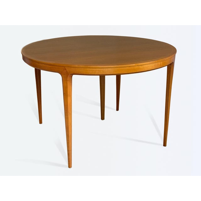 Mid-Century Modern Vintage Swedish Walnut Dining Table by B. Fridhagen for Bodafors For Sale - Image 3 of 13