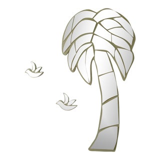 Late 20th Century Costal Florida Palm Tree & Bird Mirrors - Set of 3 For Sale