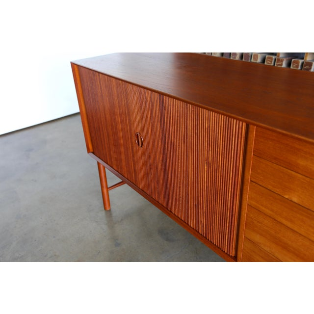 Brown 1960s Peter Hvidt & Orla Mølgaard Nielsen Credenza For Sale - Image 8 of 13