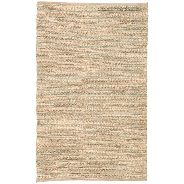 Jaipur Living Canterbury Natural Solid Tan & Green Area Rug - 5' X 8' For Sale