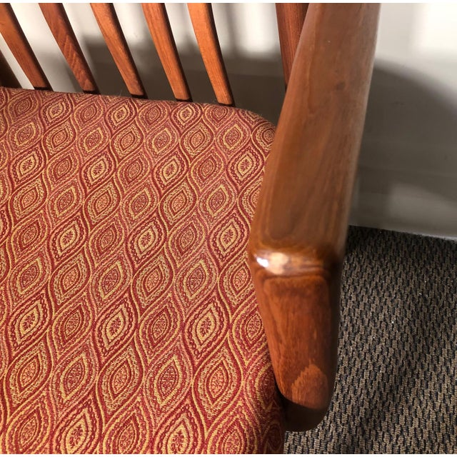 Set of 8 Mid Century Modern Danish Teak Dining Chairs by Benny Linden Slat Back For Sale - Image 10 of 13