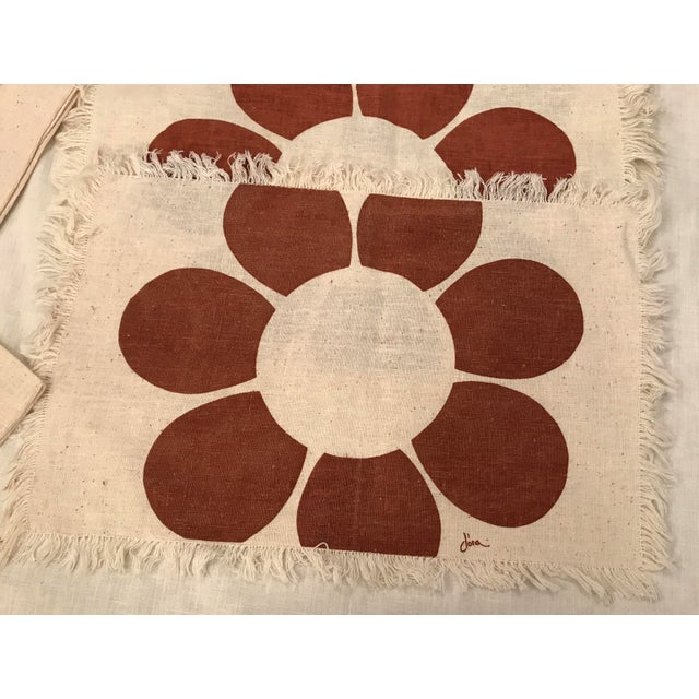 Boho Chic Vintage Floral Placemats & Napkins - Set of 8 For Sale - Image 3 of 10