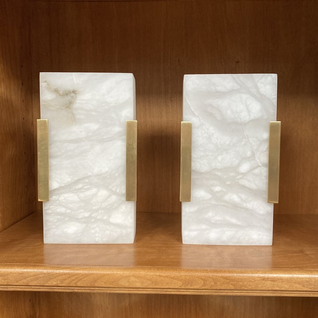 Visual Comfort Covet Wide Clip Bath Alabaster Wall Sconces - a Pair For Sale - Image 13 of 13