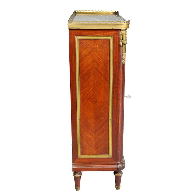 Wood Louis XVI Style Tulipwood and Ormolu-Mounted Petit Cabinet For Sale - Image 7 of 10
