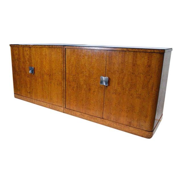 European Art Deco Burl Cabinets - a Pair For Sale
