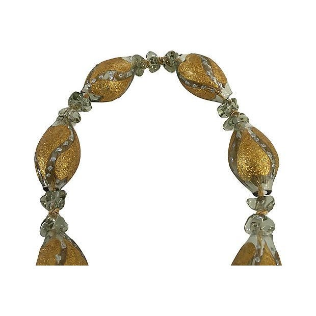 1950s Boho Chic Mediterranean Hand Blown Glass Worry Beads Wall Hanging For Sale - Image 5 of 6