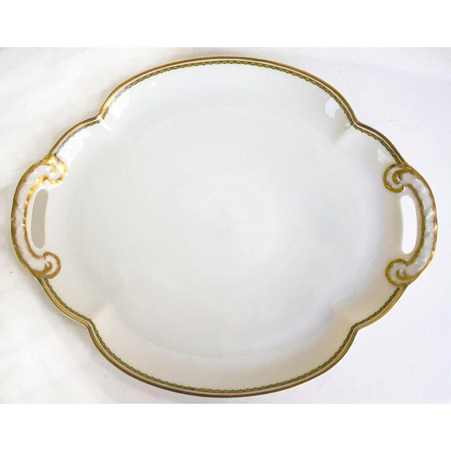 1960s Theodore Haviland Limoges France Porcelain Handled Tray For Sale In Las Vegas - Image 6 of 6