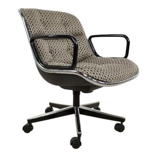 1970s Mid Century Vintage Knoll Pollock Executive Chair For Sale