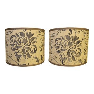 Fortuny Cimarosa Sconce Shades - a Pair For Sale