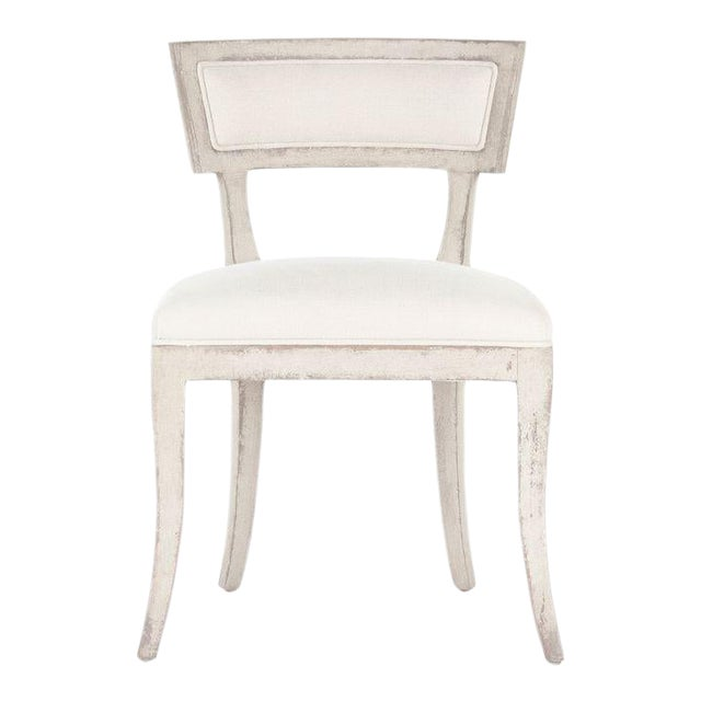 Rochester Side Chair in White For Sale