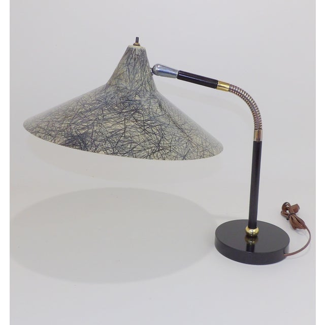 Mid 20th Century Gerald Thurston Flying Saucer Tanker Desk Lamp For Sale - Image 5 of 11