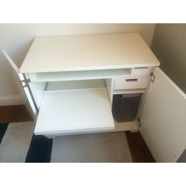 Traditional Crate & Barrel Filing Cabinet and Pull-Out Desk For Sale - Image 3 of 7